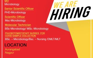 SpiceHealth – Hiring Microbiology Candidates – MD / Sr. Scientific Officer / Scientific Officer / Molecular Technician / Staff Nurses