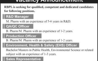 Rhododendron Biotech Pvt. Ltd – Vacancy for R&D / QA / QC / Production / EHS / Sales / Accounts – Apply Now