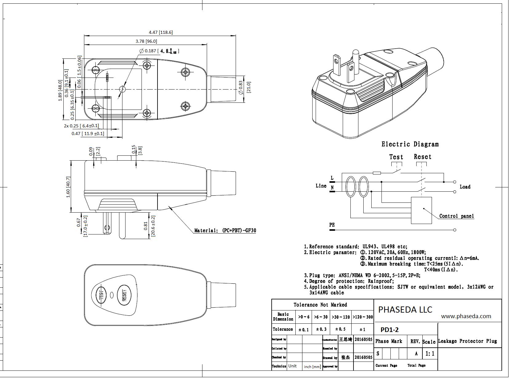 PD1-2 Spec sheet