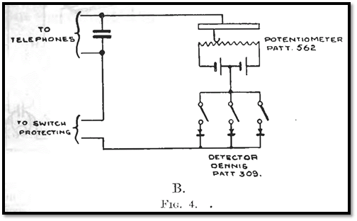 Older receiver uses redundant galena crystals and bias
