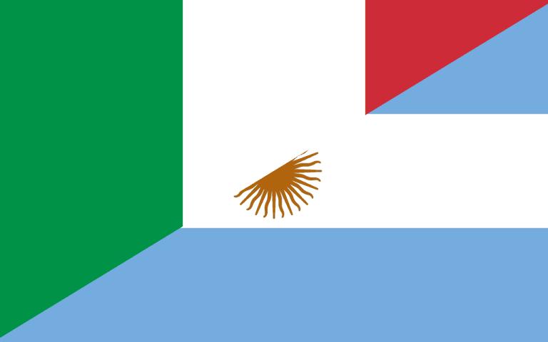 Hybrid flag Italy Argentina