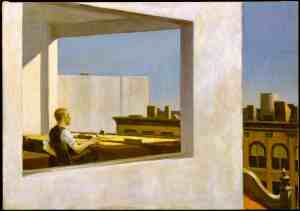 Office in a Small City, Edward Hopper (1953)