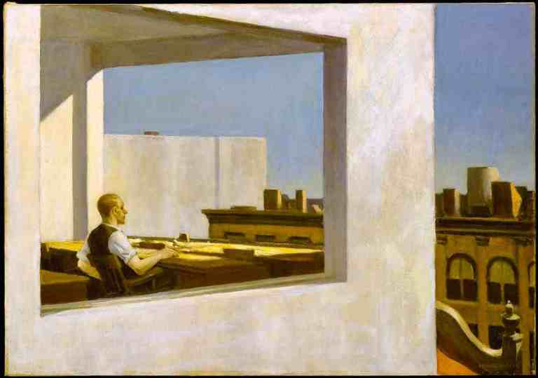 Office in a Small City, Edward Hopper (1953)