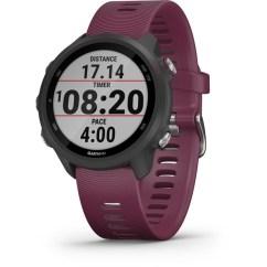 A Garmin wristwatch displaying a pace field