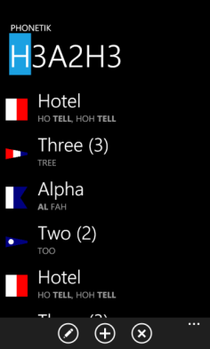 Phonetik - Spell any text using the phonetic alphabet with the correct pronunciation (in English or French)