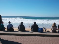 Winter sun at Manly Beach