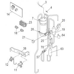 Flow Meter, 3/4in Unions, 5-42Ltr/min, Mitsubishi Ecodan