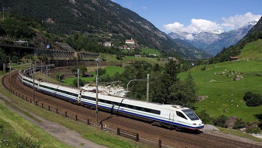 double track train