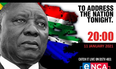 president cyril ramaphosa to address the nation today