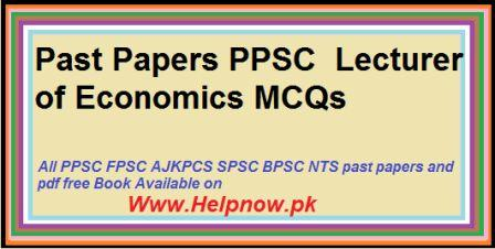 Economics past papers ppsc