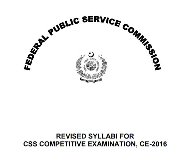 CSS exam syllabus