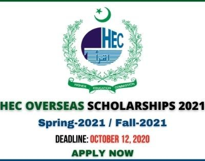 HEC Overseas Scholarships 2021
