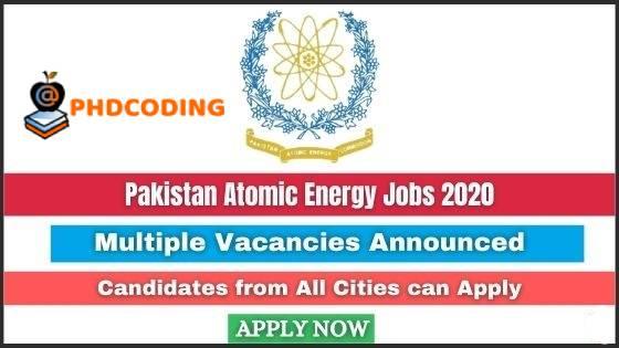 Pakistan Atomic Energy Jobs 2020