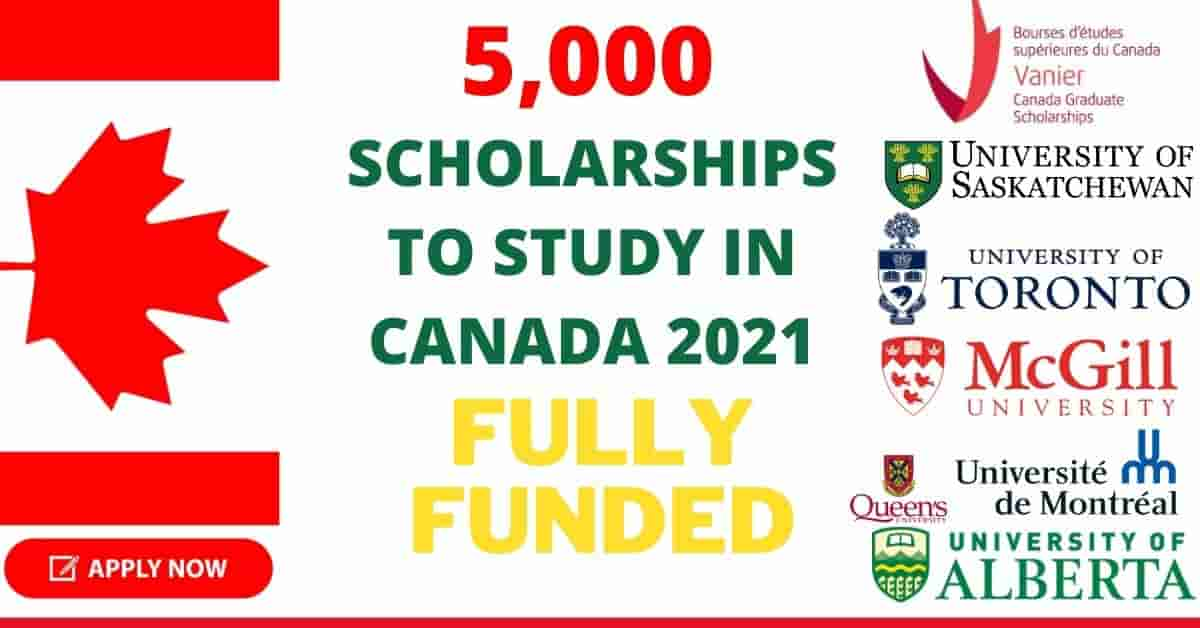 5000 Scholarships to Study in Canada 2021