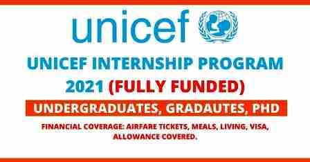 UNICEF Internship Program 2021