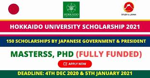 Hokkaido University Scholarship 2021