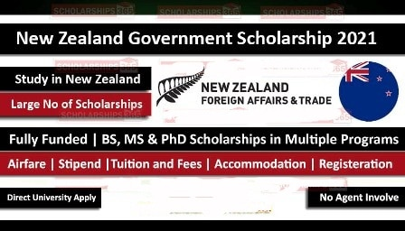 New Zealand Government Scholarships 2021