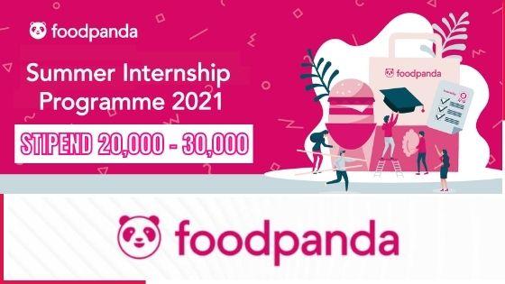 foodpanda internship program 2021