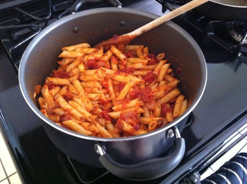 Coat your pasta with the sauce, and you're all done!