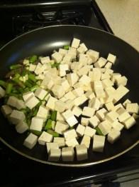 Startin' off the stir fry