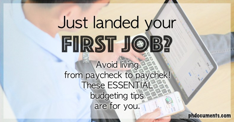 Budgeting Tips for New Workers