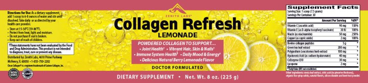 Collagen Refresh Lemonade dosage