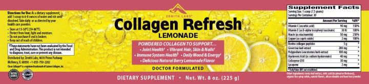 Collagen Refresh Lemonade dosage