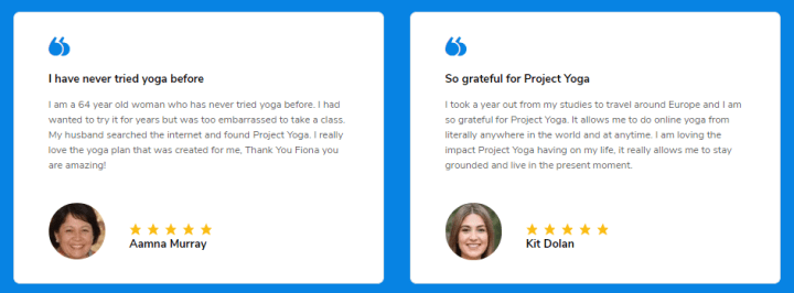 Project Yoga online customer reviews