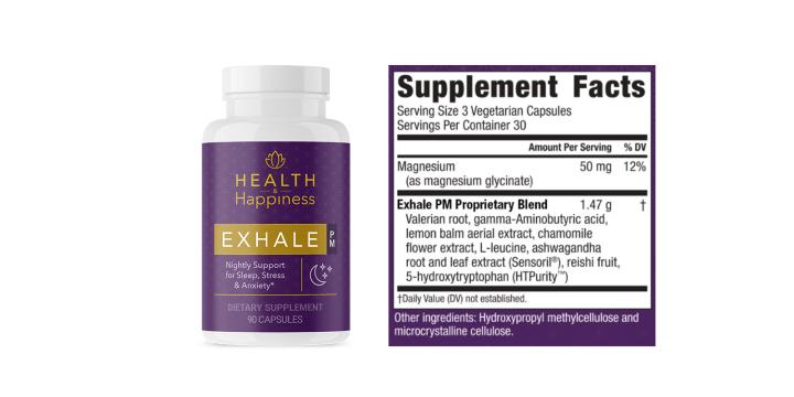Exhale PM Dosage