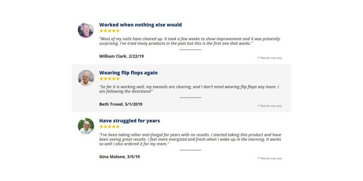 Fungus Clear Customer reviews