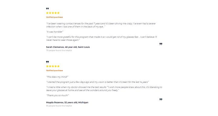 Eyesight Max customer reviews