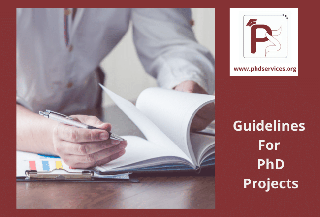Guidelines for Phd projects for PhD scholars