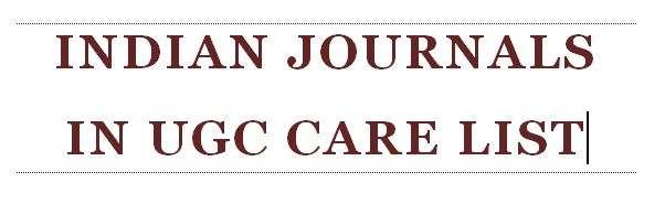 indian journals in ugc care list