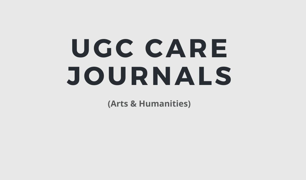 UGC care journals: Arts Humanities
