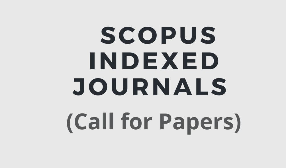 call for papers in scopus indexed journals