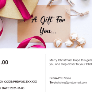 Proofreading Gift Card PhD Voice
