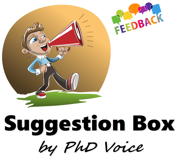 Suggestion Box by PhD Voice logo