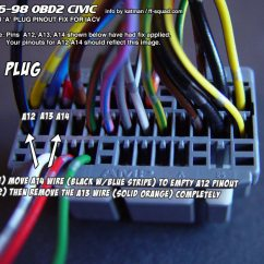 Obd2 To Obd1 Wiring Diagram Diagrams For Car Audio Speakers Information :: Tech Area 3 Wire 2 Iacv Conversion 96-98 Civic