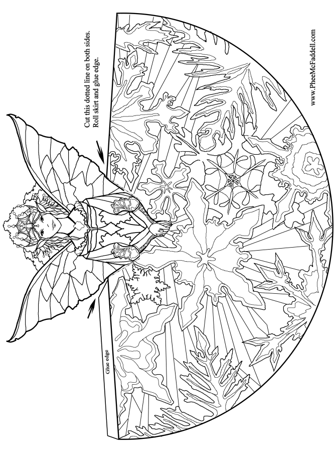 Fairy Princess Coloring and craft Page