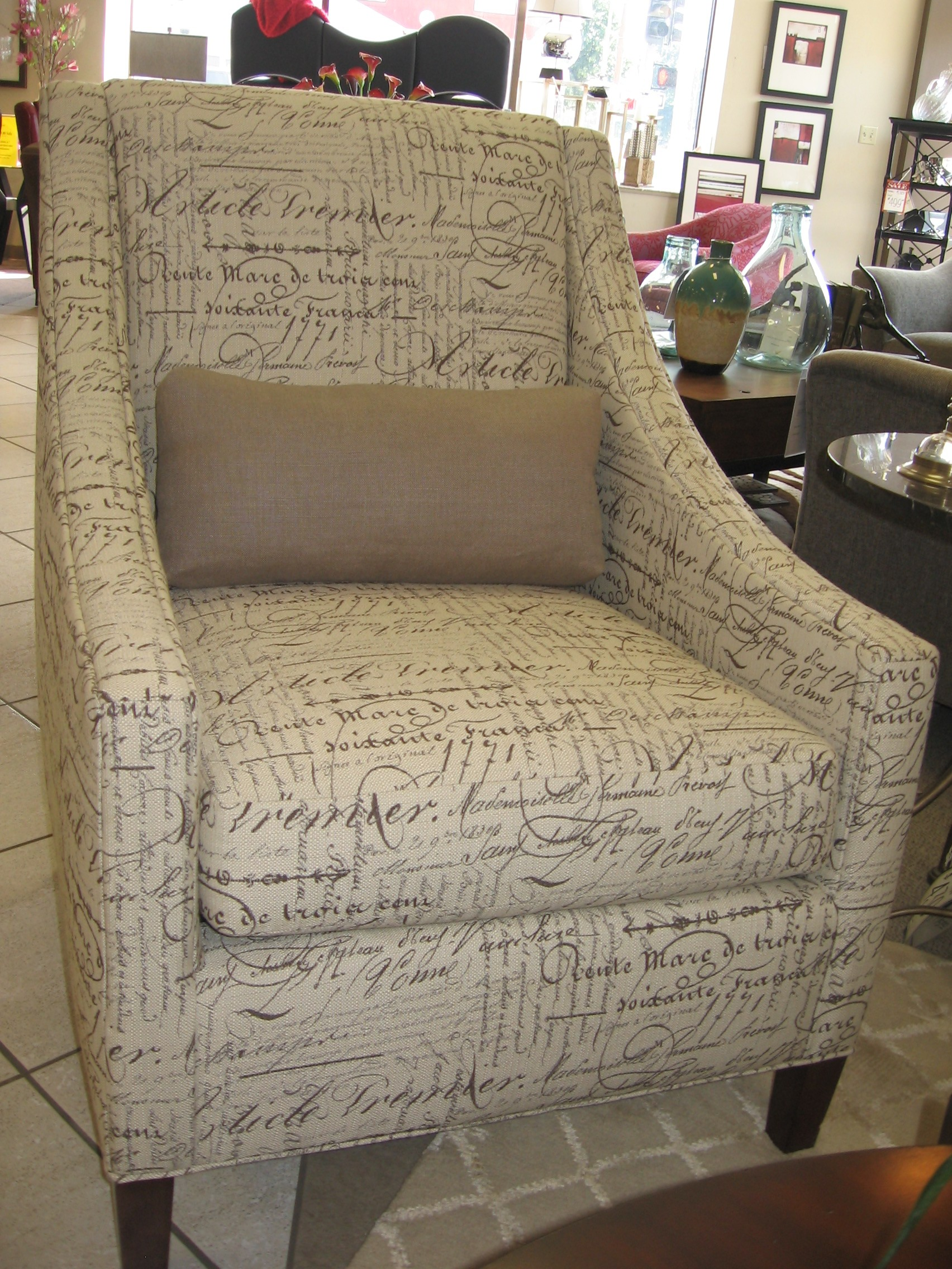 French Script Chair French Script On Fabric Chairs Supreme Design By Dianne