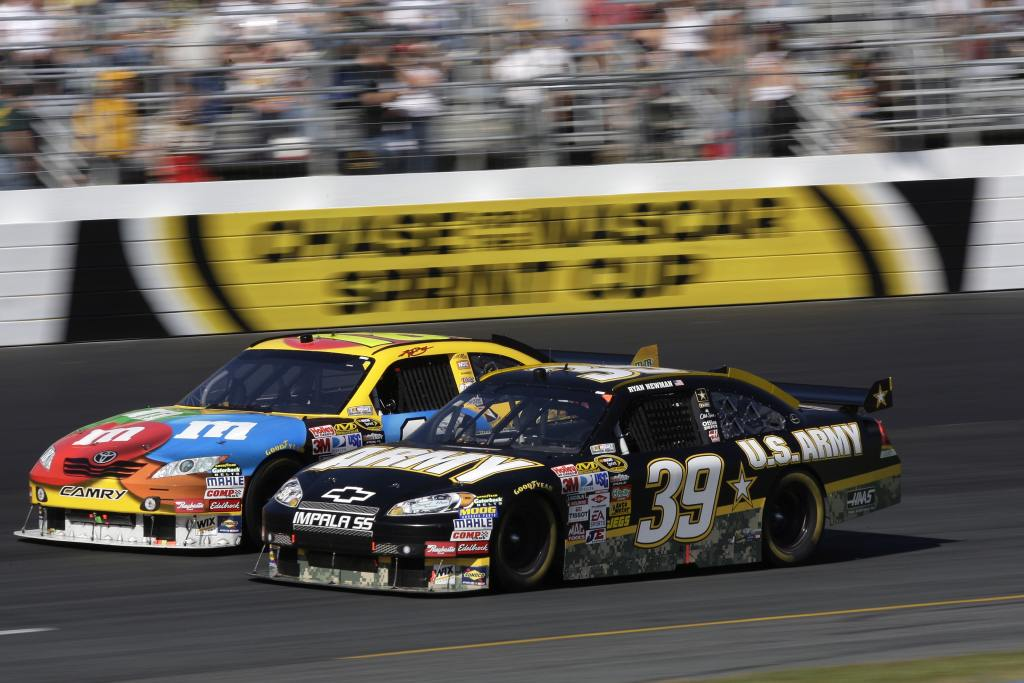 race car at race track