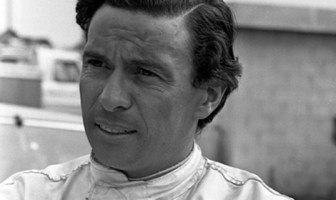 A candid photo of open wheel racing star Jimmy Clark as seen at North Carolina Motor Speedway Rockingham. Clark was on hand to race the #66 Ford prepared by Holman Moody.