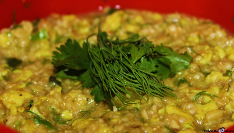 O,oats,masala oats,health,scrambbled eggs,dill leaves, coriander,food,,a-z,a2z, a2z challenge,pravs,praveen,throo da looking glass, through the looking glass, bangalore blog, praveen