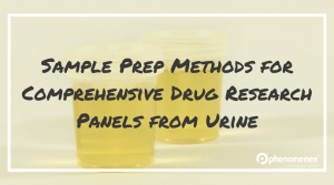 Optimizing Sample Preparation Methods for Comprehensive Drug Research Panels from Urine