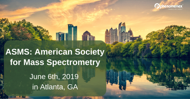 The American Society for Mass Spectrometry (ASMS) will be held in Atlanta, GA this year.