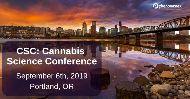 Join us at CSC: Cannabis Science Conferences in Portland this year.