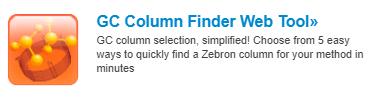 GC column finder chromatography web tools
