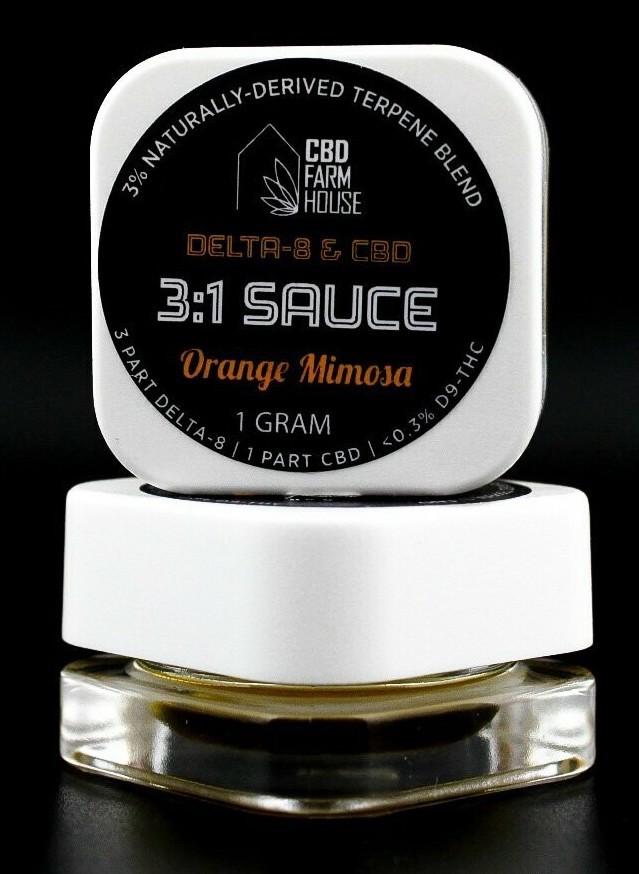 Delta 8 SAUCE 3:1 Orange Mimosa
