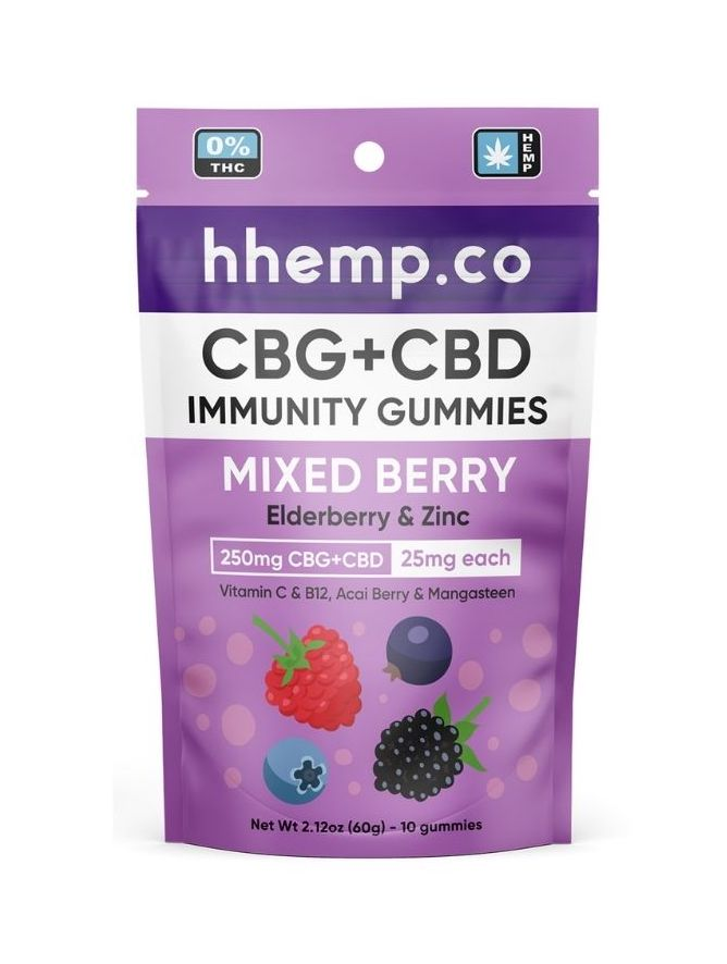 CBG+CBD Immunity Gummies