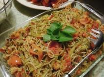 Roasted Tomato and Chilli Calamari Linguini